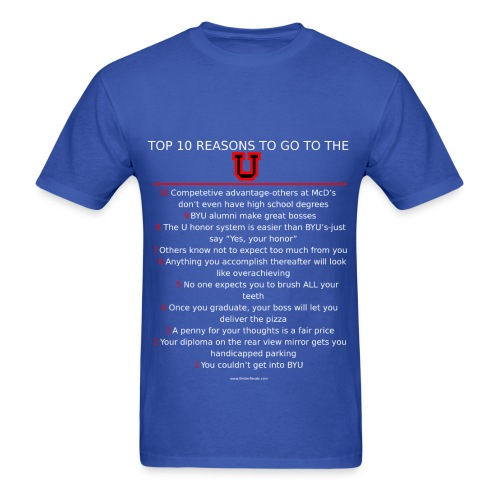 Mens Top 10 reasons to be a Ute - Men's T-Shirt