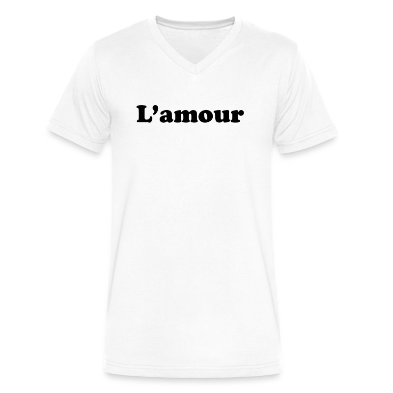 l amour T-Shirts - Men's V-Neck T-Shirt by Canvas
