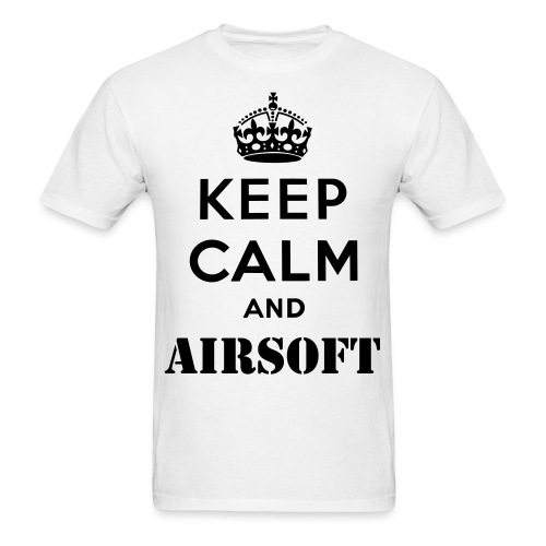 Keep Calm And Airsoft Shirt - Men's T-Shirt