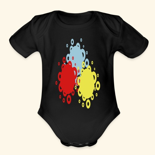 Let's scramble - Organic Short Sleeve Baby Bodysuit