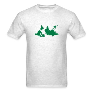 upside down map shirt - Men's T-Shirt