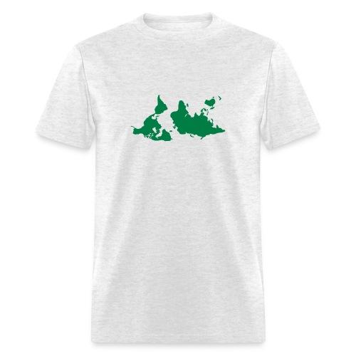 upside down map shirt - Men's T-Shirt