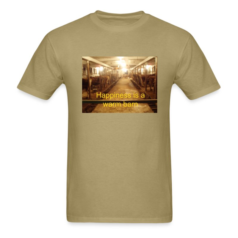Happiness is a warm barn - Men's T-Shirt