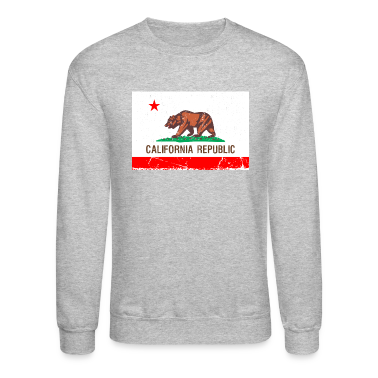 california Vintage Flag Long Sleeve Shirts