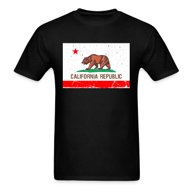 california Vintage Flag T-Shirts
