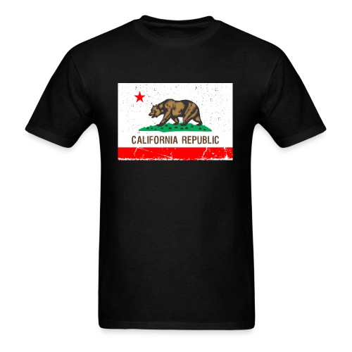 California Vintage Flag R&B - Men's T-Shirt