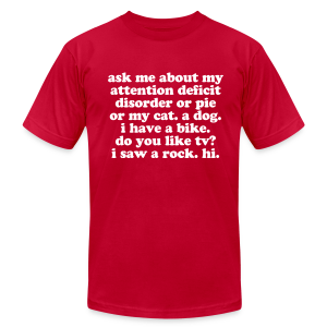Ask Me About My ADHD - Men's Fine Jersey T-Shirt
