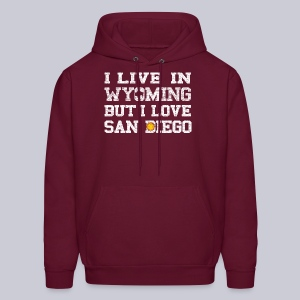 Live Wyoming Love San Diego - Men's Hoodie