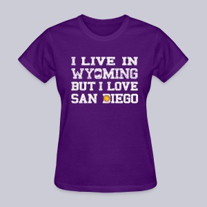 Live Wyoming Love San Diego - Women's T-Shirt