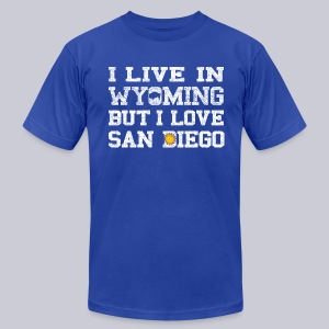 Live Wyoming Love San Diego - Men's T-Shirt by American Apparel
