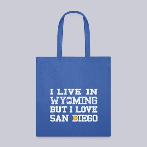 Live Wyoming Love San Diego - Tote Bag