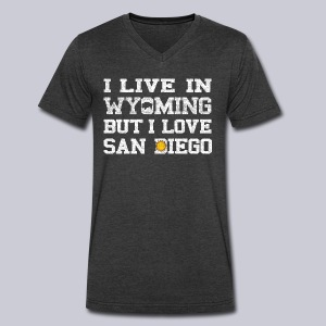 Live Wyoming Love San Diego - Men's V-Neck T-Shirt by Canvas