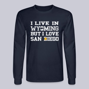 Live Wyoming Love San Diego - Men's Long Sleeve T-Shirt