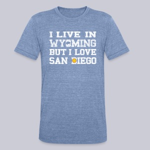 Live Wyoming Love San Diego - Unisex Tri-Blend T-Shirt by American Apparel