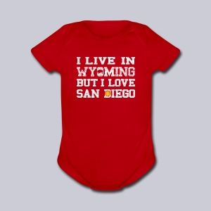Live Wyoming Love San Diego - Short Sleeve Baby Bodysuit