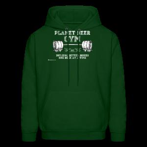 Planet Beer Gym Men's Hooded Sweatshirt - Men's Hoodie