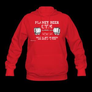 Planet Beer Gym Women's Hooded Sweatshirt - Women's Hoodie