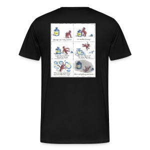 Small logo, Cartoon, No quotes - Men's Premium T-Shirt