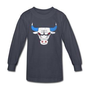 Bulls Flag - Kids' Long Sleeve T-Shirt