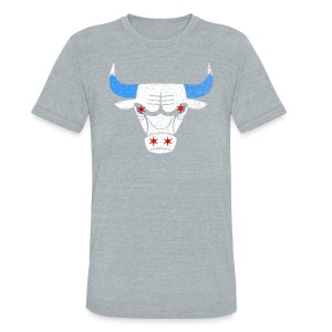Bulls Flag - Unisex Tri-Blend T-Shirt