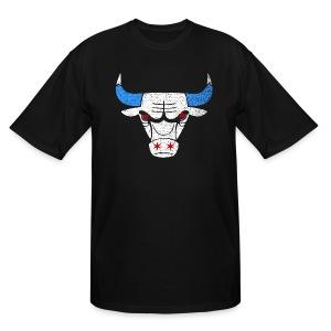 Bulls Flag - Men's Tall T-Shirt