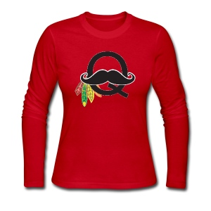 Q-Stache - Women's Long Sleeve Jersey T-Shirt