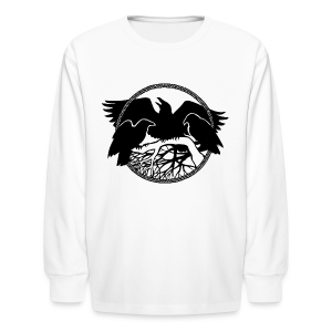 Raven Art Shirt Kid's Raven Crow Spirit Animal Shirt - Kids' Long Sleeve T-Shirt