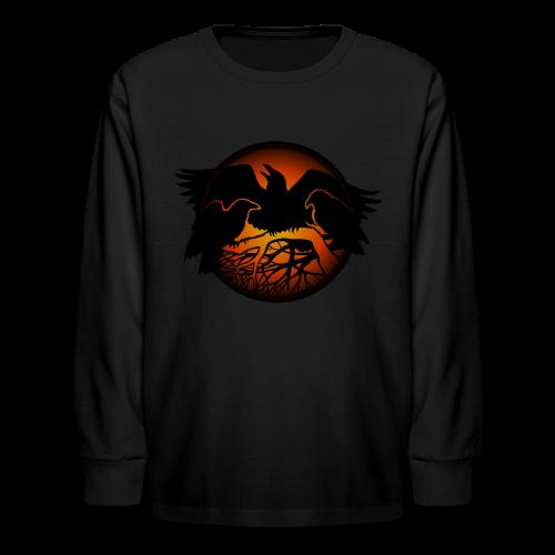 Raven Art Shirt Kid's Raven Crow Spirit Animal Shirt - Kids' Long Sleeve T-Shirt