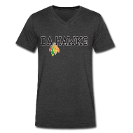 T-Shirts ~ Men's V-Neck T-Shirt by Canvas ~ Da Hawks