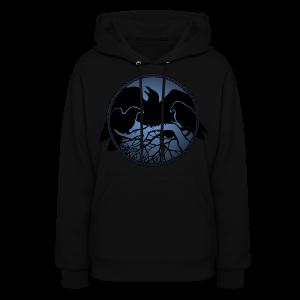 Raven Art Hoodie Women's Raven Spirit Animal Hoodie Shirt - Women's Hoodie