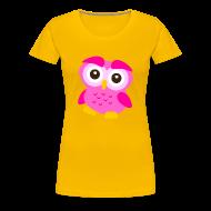 Women's T-Shirts ~ Women's Premium T-Shirt ~ Cute Owl Pink
