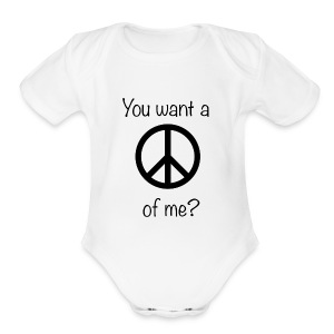 Peace Baby! - Short Sleeve Baby Bodysuit