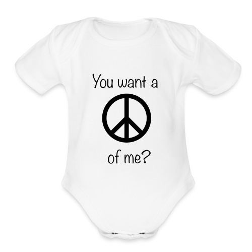 Peace Baby! - Organic Short Sleeve Baby Bodysuit