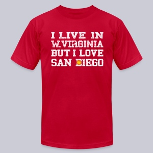 Live West Virginia Love San Diego - Men's T-Shirt by American Apparel