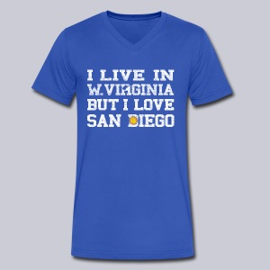 Live West Virginia Love San Diego - Men's V-Neck T-Shirt by Canvas