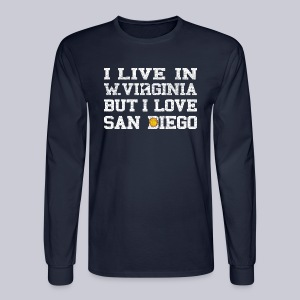 Live West Virginia Love San Diego - Men's Long Sleeve T-Shirt