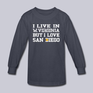 Live West Virginia Love San Diego - Kids' Long Sleeve T-Shirt