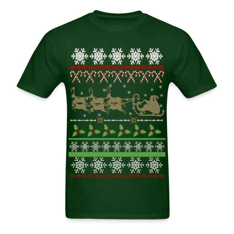 Ugly christmas sweater inspired t shirt spreadshirt for Tacky t shirt ideas