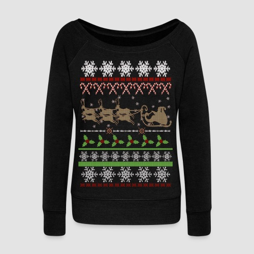 Ugly Christmas Sweater-Inspired off-Shoulder Women's Holiday Shirt ...
