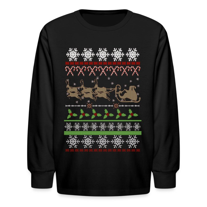 Ugly christmas sweater inspired long sleeve shirt for Tacky t shirt ideas