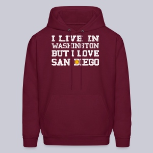 Live Washington Love San DIego - Men's Hoodie