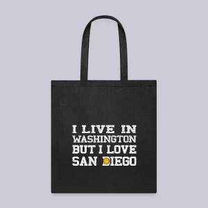 Live Washington Love San DIego - Tote Bag