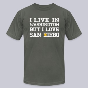 Live Washington Love San DIego - Men's T-Shirt by American Apparel