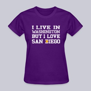 Live Washington Love San DIego - Women's T-Shirt