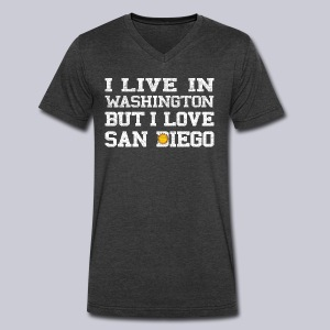 Live Washington Love San DIego - Men's V-Neck T-Shirt by Canvas