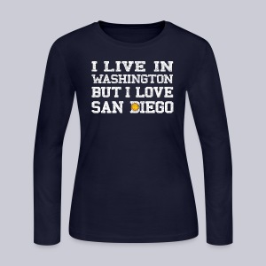 Live Washington Love San DIego - Women's Long Sleeve Jersey T-Shirt