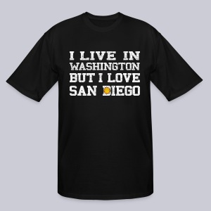 Live Washington Love San DIego - Men's Tall T-Shirt