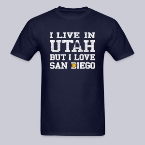 Live Utah Love San Diego - Men's T-Shirt