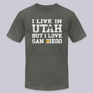 Live Utah Love San Diego - Men's T-Shirt by American Apparel