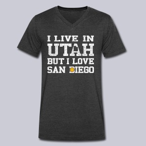 Live Utah Love San Diego - Men's V-Neck T-Shirt by Canvas